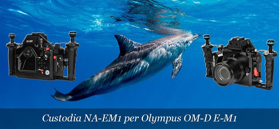 Custodia Nauticam per Olympus OM-D E-M1.
